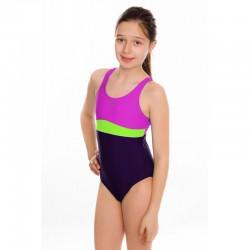 Kostium kąpielowy pływacki dziewczęcy EMILY fioletowy