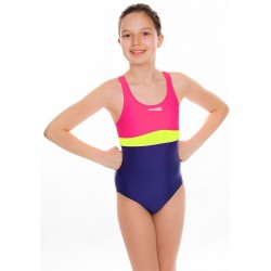 Kostium kąpielowy pływacki dziewczęcy EMILY fioletowo-różowe