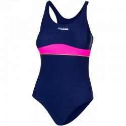 Kostium kąpielowy pływacki dziewczęcy EMILY granatowy