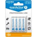 4x Akumulatorki EverActive R03/AAA Ni-MH 1050 mAh ready to use