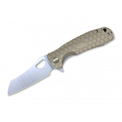 Nóż składany Honey Badger Wharncleaver Large Tan