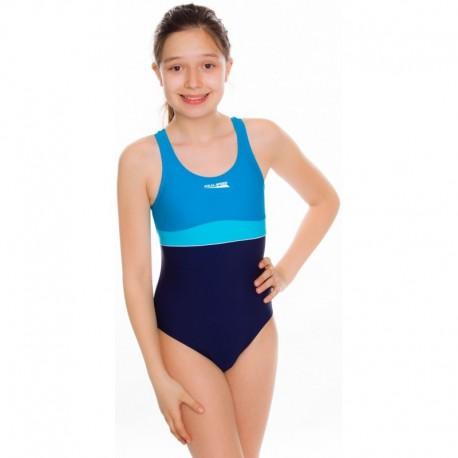 Kostium kąpielowy pływacki dziewczęcy EMILY błękitny