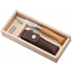 Nóż składany OPINEL LUX OLIVE No.8 BOX na prezent