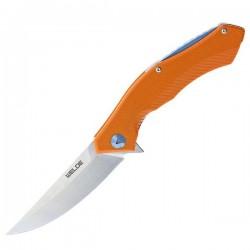 Nóż składany EDC - WELDE D2F03 pomarańczowy